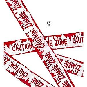 WIDMANN?Cinta Barricata Caution Zombie Zone Unisex-Adult, rojo, talla única, vd-wdm51896