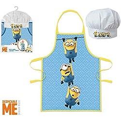 Children's Kids Apron and Hat chef set Minions