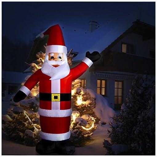 Decorazioni Natalizie Gonfiabili.Oneconcept Santa Xxl Babbo Natale Gonfiabile Illuminato Decorazione