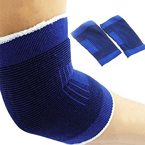Ellenbogen-wrap (Vi.yo Elastische Ellenbogen Unterstützung Ärmel Bandage Armstütze Wrap Guard leichtes Design Single Sleeve schwachen arthritischen Ellenbogen- Unisex Brace)