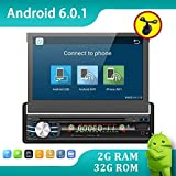 2G 32G Single DIN Android 6.0Quad-Core, Touchscreen, Bluetooth, DVD/CD/MP3/USB/SD am/fm Auto-Stereo, 17,8cm Digital LCD Monitor, abnehmbares Front-Panel, kabelloser Fernbedienung, mehrfarbig Beleuchtung
