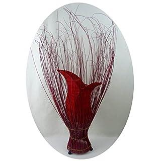 Deko-Leuchte Stimmungsleuchte Stehleuchte Tischleuchte Tischlampe Bali Asia TULPE klein 60 cm Color Rot