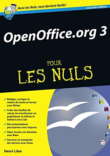 OpenOffice.org 3.X Mégapoche Pour les nuls par Henri LILEN