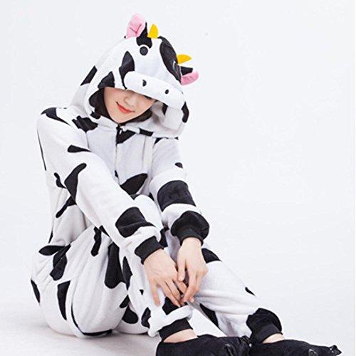 DMMSS Neutre Flanelle Rôle Vêtements Épaississement Mignon Siamois Pyjamas Set Couples Maison Vêtements Costumes White