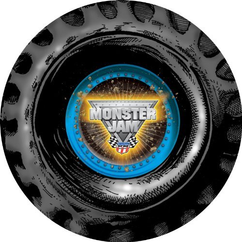 Monster Jam Party Supplies - Round Activity Placemats (4) by BirthdayExpress (Jam Monster Supplies Party)