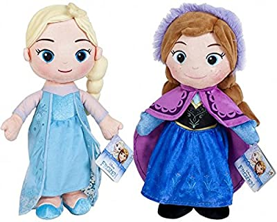 Pack de 2 Peluches Disney Frozen - Elsa y Anna 30 Cm por Playbyplay