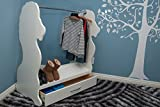 Ace Baby Furniture Lion Mobile Dress-Up Clothes and Shoe Organizer, White