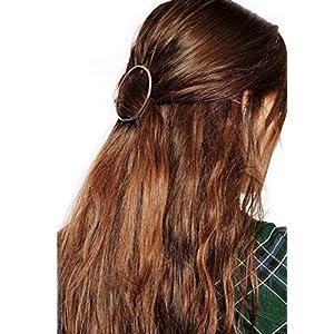 Minimalist Dainty Gold Hohl Runde Metall Haarspange Haarnadel Haarklemme Kopfschmuck Kopfschmuck Schmuck