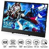 Monitor per PC Desktop 1080P, Porta HDMI/VGA/AV/Auricolare, per Raspberry Pi / PS3 PS4 / Will U/Xbox 360/ One/Camera/DVD [Versione Italiana] (15.6' [Tocco])