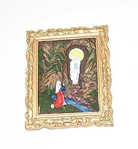 Katerina Prestige-Estatua imán visión Virgen de Lourdes en Marco, re0272
