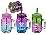 OOTB Trinkglas-Set mit Strohhalm, Verschiedene Varianten (Beach Life, 6)