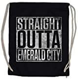 Urban Backwoods Straight Outta Emerald City Turnbeutel Sporttasche