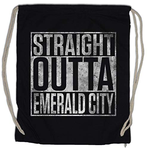 Urban Backwoods Straight Outta Emerald City Turnbeutel Sporttasche
