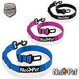 NeoPet Hundegurt Fürs Auto, 2 Größen für Große und Kleine Hunde, Hunde-Sicherheitsgurt, Hunde-Anschnall-Gurt, Hund-Auto-Gurt Zum anschnallen für die Rückbank, Größe M-L, Blau