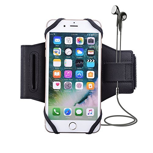 s-Smile Universal Sport Armband Case für Handy - [Freundlicher] Running Case Workout Arm Band für iPhone X/8/7/6S/6 Plus, Samsung Galaxy S9/S9 Plus/S8/S7/S6 Edge/Note 8, Google, LG, Schwarz