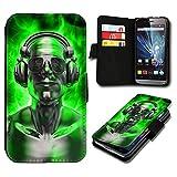 Book Style ZTE Blade L5 Premium PU-Leder Tasche Flip Brieftasche Handy Hülle mit Kartenfächer für ZTE Blade L5 - Design Flip SB281