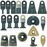 19 x TopsTools RVK19 Mix Lames pour Draper mt250 a 23038, MT250 31328, Wickes 235510, Renovator Multitool Outil multifonctions Accessoires