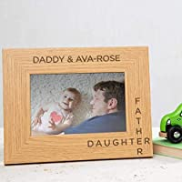 Personalised Father Daughter Wooden Photo Frame/First Fathers Day Gifts from baby daughter/Personalised Daddy Photo Frame/new daddy Gifts From baby Daughter