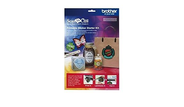 Brother Scan /'n Cut CAPSKIT1  Printable Sticker Starter Kit