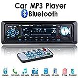 Binrrio Bluetooth ricevitore audio stereo 12V autoradio audio USB/SD/MP3player auto elettronica con USB/slot per scheda SD e ingresso AUX telecomando