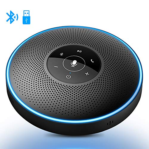 Bluetooth Freisprecheinrichtung - Konferenzlautsprecher eMeet M2 USB Mobile Konferenzlösung 8M Weitfeld Konferenzmikrofon Skype, VoIP-Kommunikation telefonspinne Konferenz Call, PC Mac Laptop
