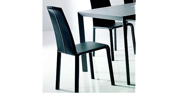 Set quattro sedie alice di bontempi spalliera alta rivestita in