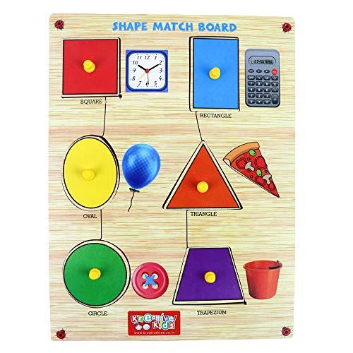 Webby Premium Wooden Shape Match Educational Puzzle Toy