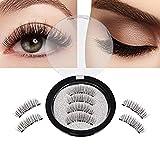 SOZZUMI Handmade Natural 3D Magnetic Thick Long False Reusable Eyelashes Extension(LONG)