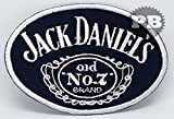 #428 Jack Daniels old NO.7 Brand whisky Iron/sew on Embroidered patch