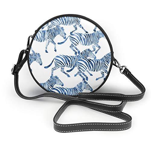 MZZhuBao Handbags For Women,Zebras In Blue PU Leather Shoulder Bags,Tote Satchel Messenger Bags Guess Zebra