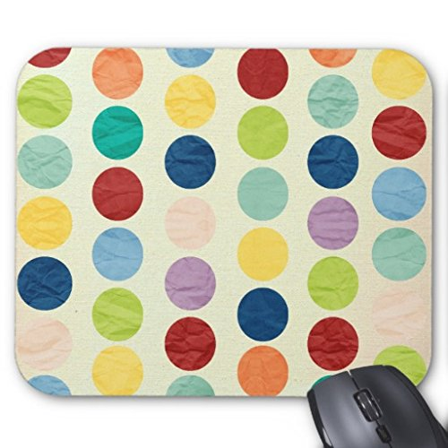 Beforyou Personalisierte Gaming Mauspads Mat Retro Polka Dots Hipster Fashion Vintage Color Mouse Pad 22cm×18cm (9