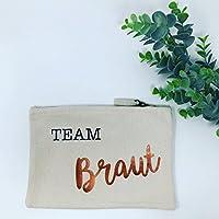 Beutel Team Braut - ideal als Kosmetikbeutel, Mäppchen, Handybeutel....