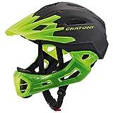 Downhill Helm Fullface Helm Cratoni C-Maniac (black-lucentgreen matt, L-XL (58-61 cm))
