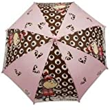 CHARLIE & AND LOLA GIRLS CHILDRENS SCHOOL RAIN UMBRELLA BROLLY PINK BROWN NEW by Charlie and Lola