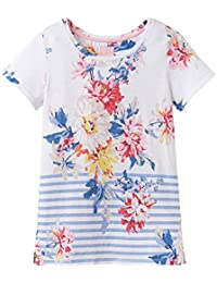 Joules Womens Trisha Tie Sleeve Top 8 in RASP FLORAL Size 8
