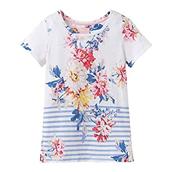 2f12d763 Joules Nessa Womens Printed Jersey T-Shirt - White Whitstable Floral ...