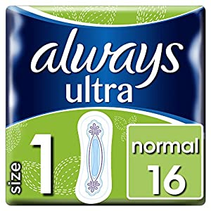 Always Ultra Normal Sanitary Towels Size 1, 16 Pads