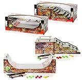 Grip and Tricks - Mega Skatepark avec 2 RAMPES pour Finger Toys - 2 en 1 - Halfpipe +...