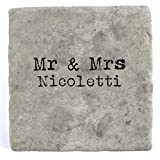 Mr & Mrs Nicoletti - Single Marble Tile Drink Coaster