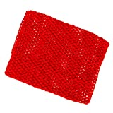 Sharplace Mädchen Tube-Top Strapless Top Bustier Elastische Band Stirnband Für Tutu Kleid Fotoshooting Kostüm - Rot