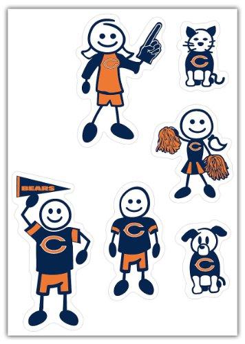 Siskiyou NFL Small Family Aufkleber-Set