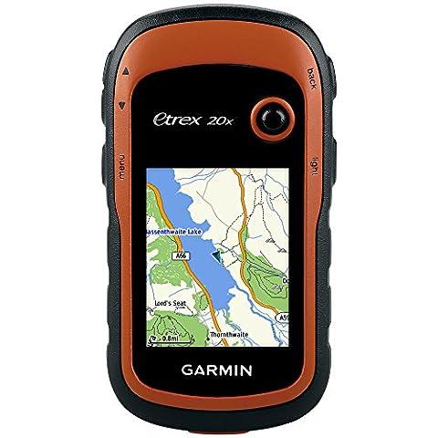 Garmin eTrex 20x Outdoor Navigationsgerät - TopoActive Karte, bis zu 25 Std. Akkulaufzeit, 2,2 Zoll (5,6cm) Farbdisplay