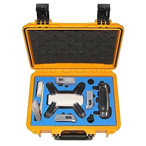 DJI Spark Drone, Sac à dos Hardshell imperméable Housse de transport RC pièces de Suitcase Box pour DJI Spark, jaune