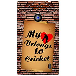 Via flowers Heart To Cricket Phone Cover For Nokia Lumia 520