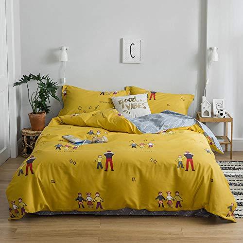 ZPYHJS Biber bettwäsche,Baumwolle vierteiliger Anzug, Kinder, Studenten, Schlafsaal, Bettwäsche @ U_220 * 240cm - U220-serie