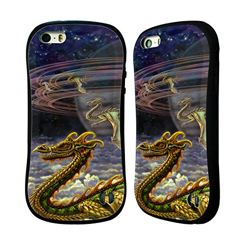 Ufficiale Myles Pinkney Drago 4 Fantasy Case Ibrida per Apple iPhone 5 / 5s / SE Drago