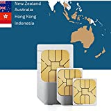 Südostasien und Ozeanien 9GB Prepaid Fast Internet Daten SIM 60 Reiseziele 30 Tage