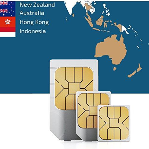 Südostasien und Ozeanien 3GB Prepaid Daten SIM Karte mit 3GB mobiles Internet für 30 Tage