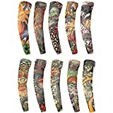 Vogue of Eden®- Fake Temporary Tattoo Sleeves Novelty Design Body Art Arm Accessories(2pc/6pc/6pc/8pc/10pc) (Package E: set of 10)