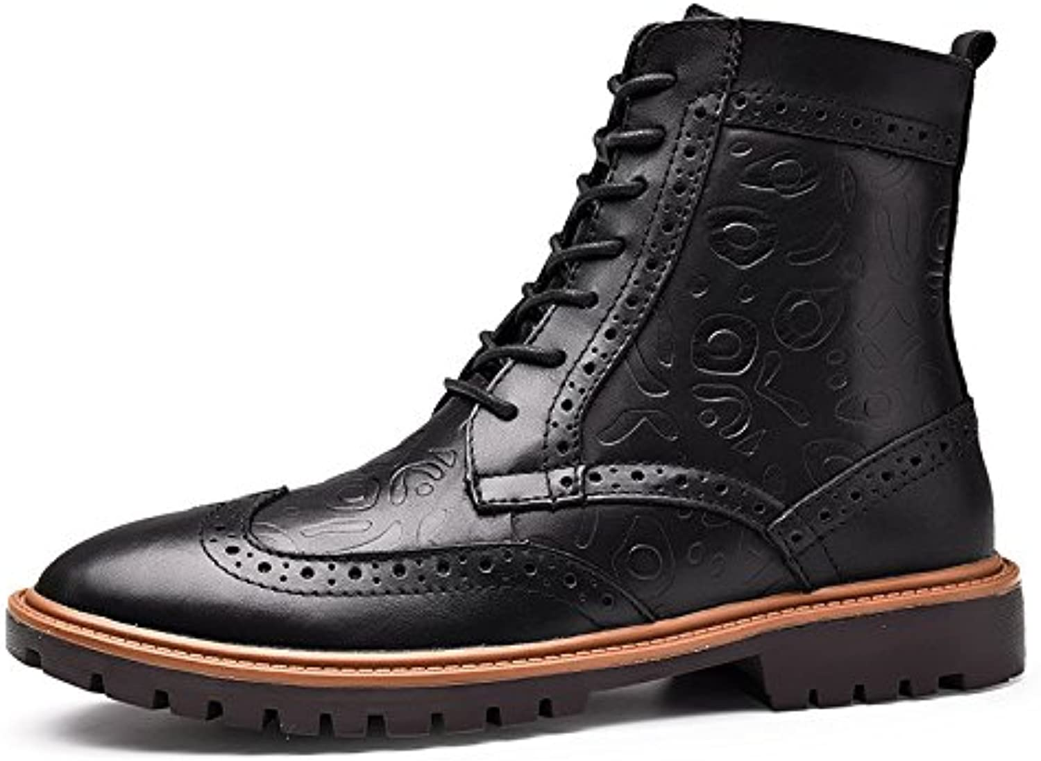 NBWE New Male Boots High Top Lederstiefel Martin Stiefel Schuhe Casual Lace ups Formelle Schuhe